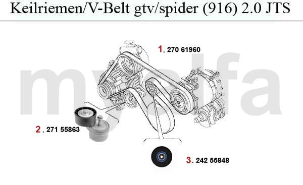 Alfa Romeo GTV/SPIDER (916) V-BELTS 2.0 JTS