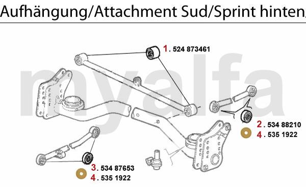 Alfa Romeo ALFA SUD/SPRINT ATTACHMENT REAR