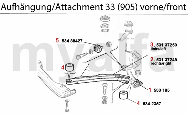 Alfa Romeo 33 (905/7) ATTACHMENT (905) FRONT