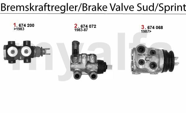 Alfa Romeo ALFA SUD/SPRINT BRAKE VALVE