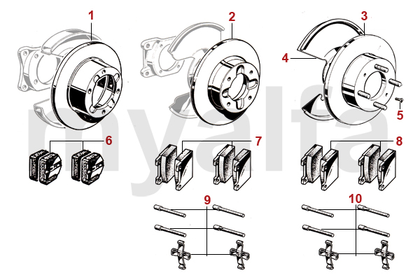 Alfa Romeo GT BERTONE FRONT BRAKE BRAKE DISCS/PADS