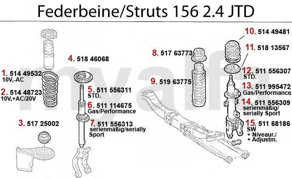 Alfa Romeo 156 STRUT 2.4 JTD 10/20V