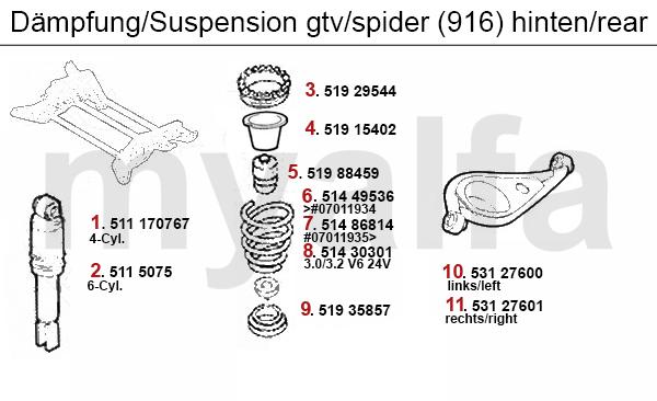 Alfa Romeo GTV/SPIDER (916) STRUT REAR