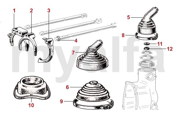 Alfa Romeo GT Bertone Getriebe Schaltung