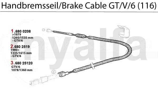 Alfa Romeo GT/V/6 (116) BRAKE CABLE
