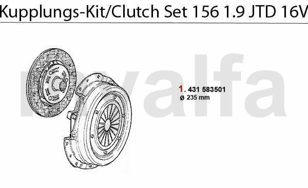 Alfa Romeo 156 CLUTCH CLUTCH SET 1.9 JTD 16V