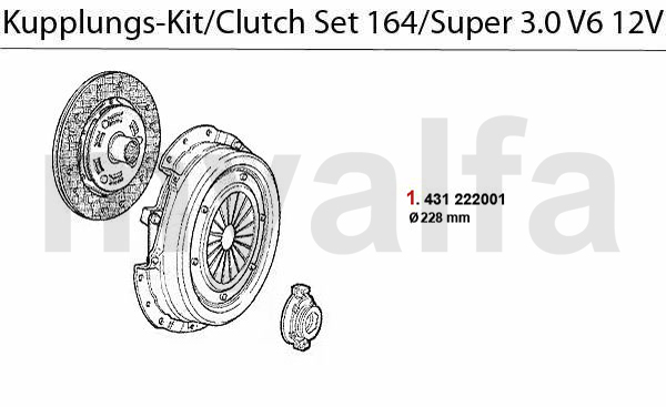 Alfa Romeo 164/SUPER CLUTCH 3.0 V6 12V CLUTCH SET
