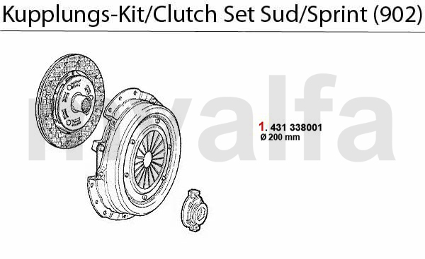 Alfa Romeo ALFA SUD/SPRINT CLUTCH CLUTCH SET Sud/Sprint