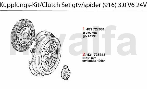 Alfa Romeo GTV/SPIDER (916) CLUTCH CLUTCH SET 3.0 V6 24V