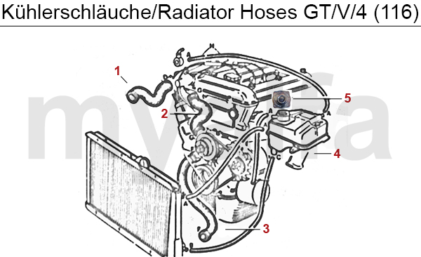 Alfa Romeo GT/V/6 (116) Water Pump, Thermostat, Radiator