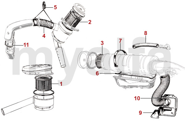 Alfa Romeo GIULIA AIR Oil Filter, Air Filter & Fuel Filter