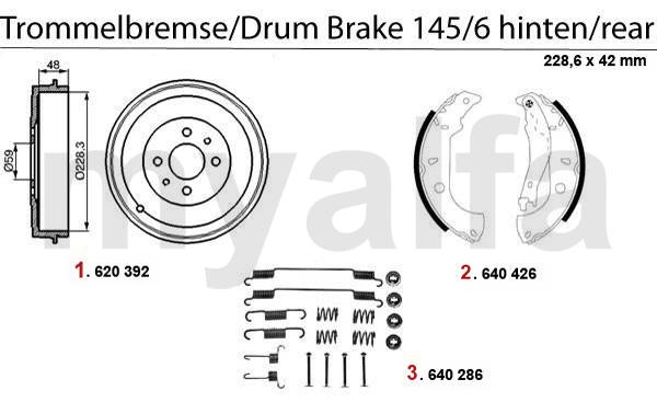 Alfa Romeo 145/6 Trommelbremse