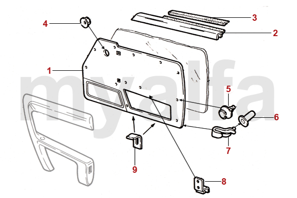 Alfa Romeo SPIDER (105/115) DOOR CARDS 1990-93