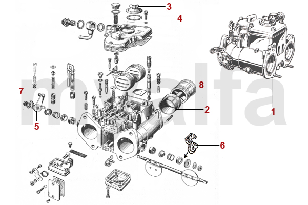 Alfa Romeo GT BERTONE CARBURETTORS AND PARTS