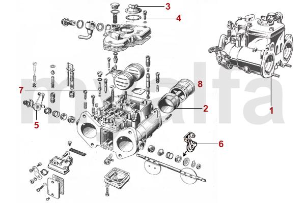 Alfa Romeo GT BERTONE CARBURETTORS AND PARTS