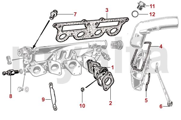 Alfa Romeo Spider (105/115) Vergaser Flansch 45mm
