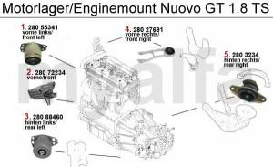 Alfa Romeo NUOVO GT Engine mount Engine, Engine Parts