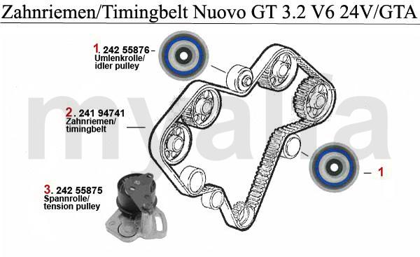 Alfa Romeo NUOVO GT VALVE GEAR 3.2 V6 24V/GTA TIMING BELT