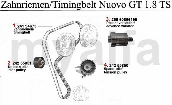 Alfa Romeo Nuovo GT Ventilsteuerung 1.8 TS Zahnriemen