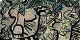 image du plan de Lyon avec superposition d'un dessin noir le l'artiste aNa pour Animation Fresque et animation art Lyon