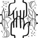 modèle de sticker cohésion représentant deux mains qui se rejoignent et dessiné par l'artiste aNa pour création de fresque team building et décoration en puzzle collaboratif