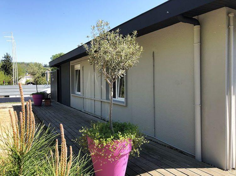 Façade Coté Nord Bureaux et Habitation à vendre situés au 1 rue Saint Léonard 69270 Couzon-au-Mont-d'Or à vendre