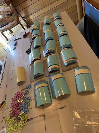 Vinyles de couleurs pour art box et experience artistique ana artiste my art box