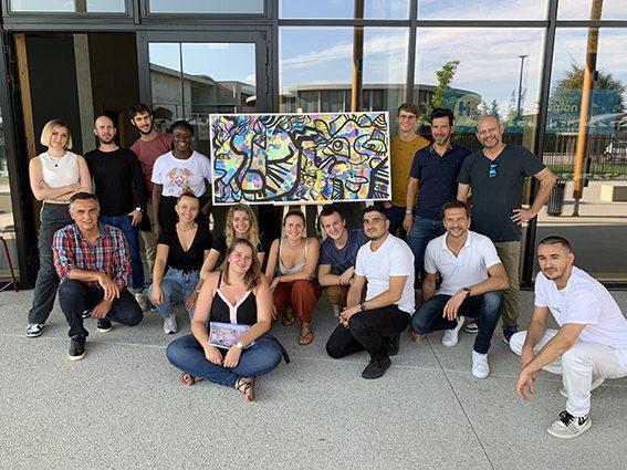 team building art organisé à Lyon pour la cohésion de ses équipes