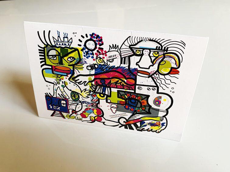 Voeux originaux imprimées par My Art Box sur papier dépliant