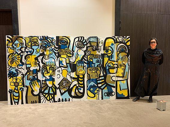 le savoir faire artistique de fresque collaborative par aNa artiste