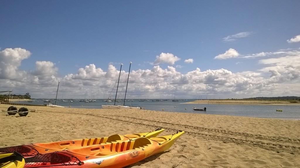 Canoé kayak sur le Bassin d'Arcachon depuis le Cap Ferret