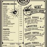 Carte de Ferret Coffee Shop au Cap Ferret