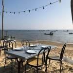 Dégustation d'huitres les pieds sur le sable plage des Jacquets