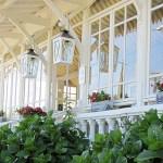 Vue exterieur de l'hôtel des Pins au Cap Ferret