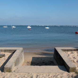 Vue sur le Bassin d'Arcachon depuis Petit Piquey