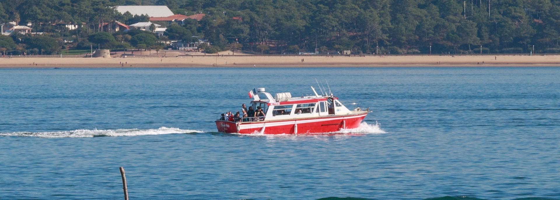 Balade en bateau à moteur à Lège Cap Ferret