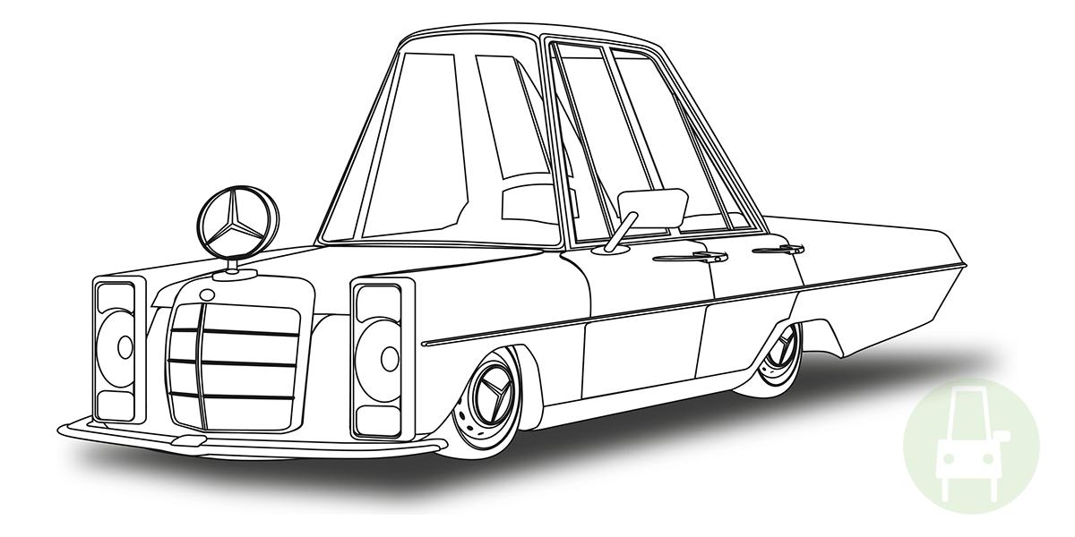 my car 230e_mercedes benz drawing