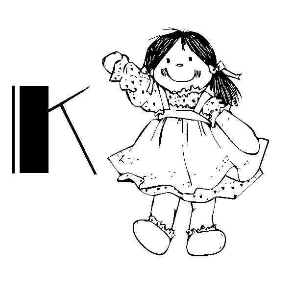 Back to Coloring pages alphabet doll category