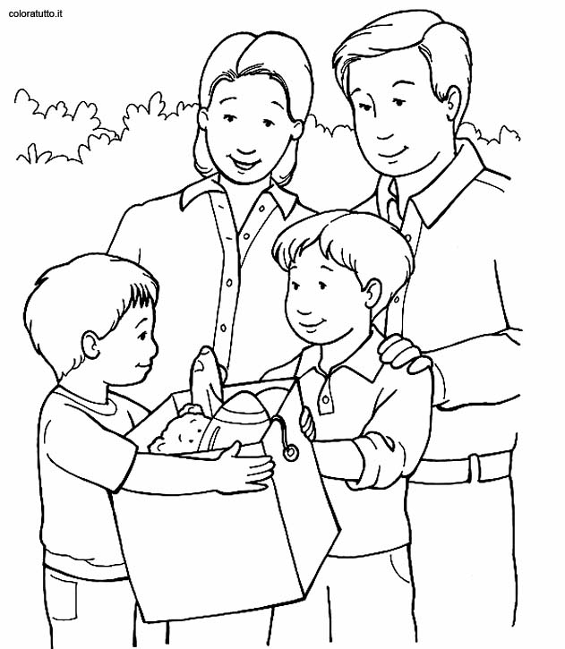 My Family House Colouring Pages Page 2 Sketch Coloring Page