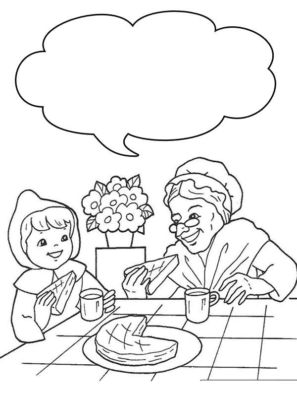 LITTLE RED RIDING HOOD COLORING « Free Coloring Pages