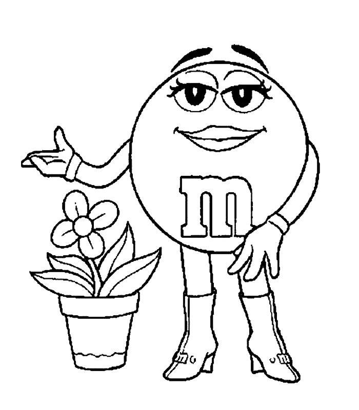 Free Coloring Pages Of M And M Candy Charactors