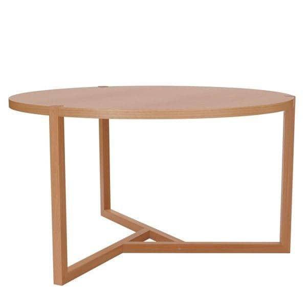 grande table ronde collection scandiwood en chene massif et placage chene de haute qualite une ambiance chaleureuse