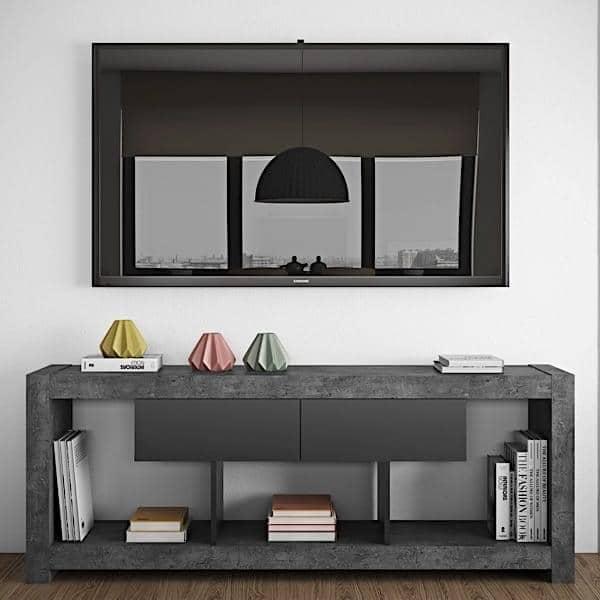 nara meuble tv qui trouvera sa place adosse a un mur ou au milieu du salon