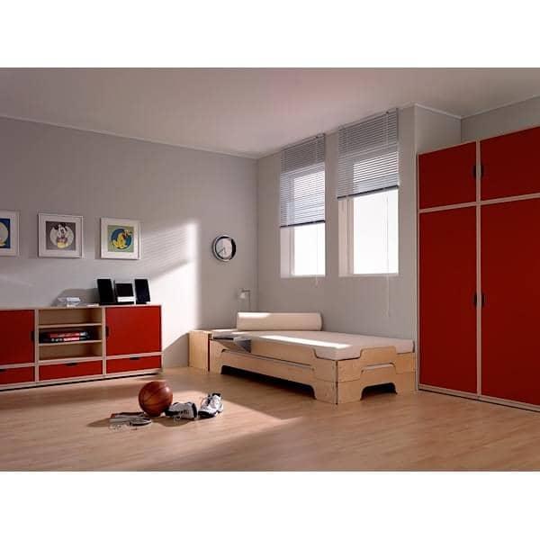 lit stack en bois empilable grand confort ligne pure et moderne