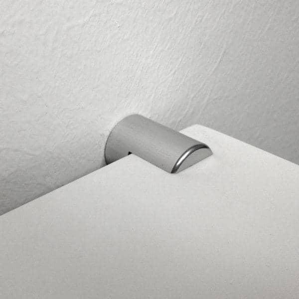 systeme de fixation professionnel en aluminium poli anodise pour etageres murales