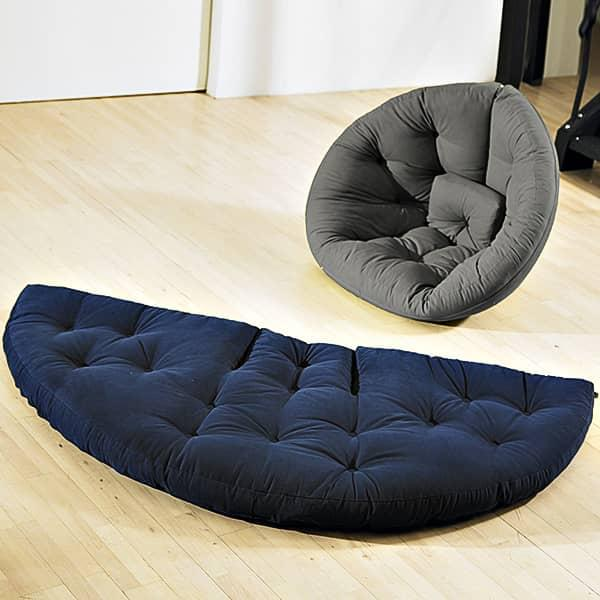 nest fauteuil futon convertible pour adultes douillet pratique et confortable