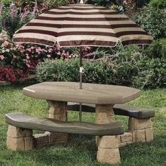 Step2 Table And Chairs With Umbrella Racing Gaming Chair Playful Picnic | Rainwear