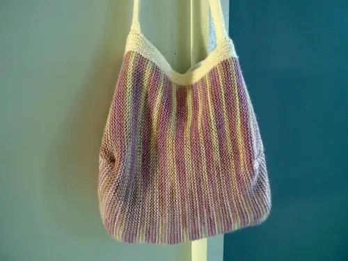 Garter stitch handbag