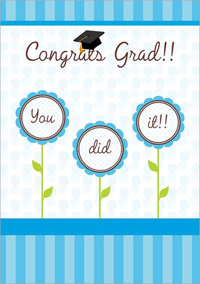printable grad card