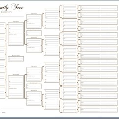 Family Tree Diagram Template Air Conditioner Wiring Capacitor A3 Six Generation Pedigree Chart